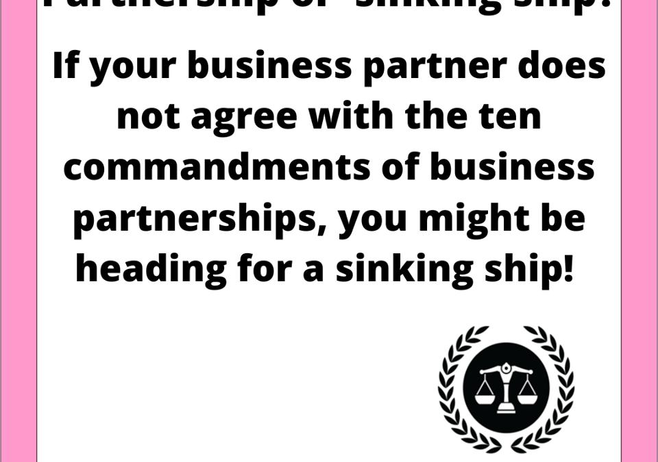 Partnership or sinking-ship?